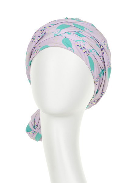 Turban Set Boho Spirit Sapphire, Parrot Passion, Christine Headwear 3
