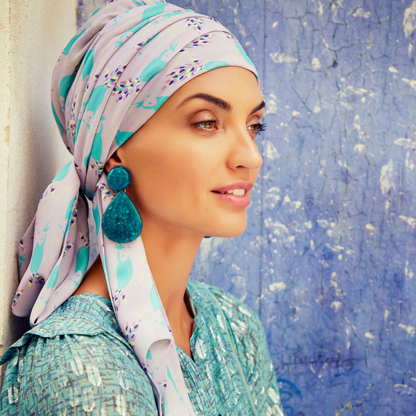 Turban Set Boho Spirit Sapphire, Parrot Passion, Christine Headwear 0