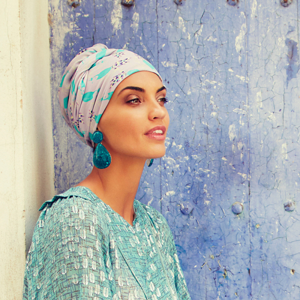 Turban Set Boho Spirit Sapphire, Parrot Passion, Christine Headwear 2