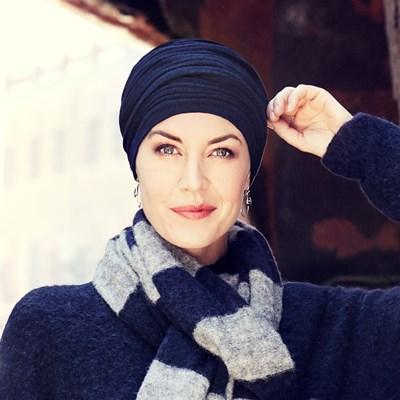 Crystal turban - Blue melange, Christine Headwear 0