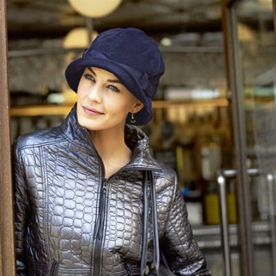 Gelu Palarie velur, violet, Christine Headwear 0