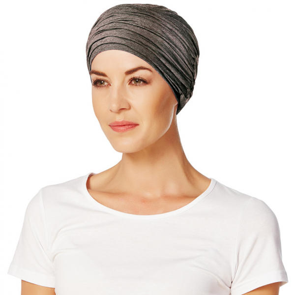Karma turban cu bentita, Warm brown melange, Christine Headwear 0
