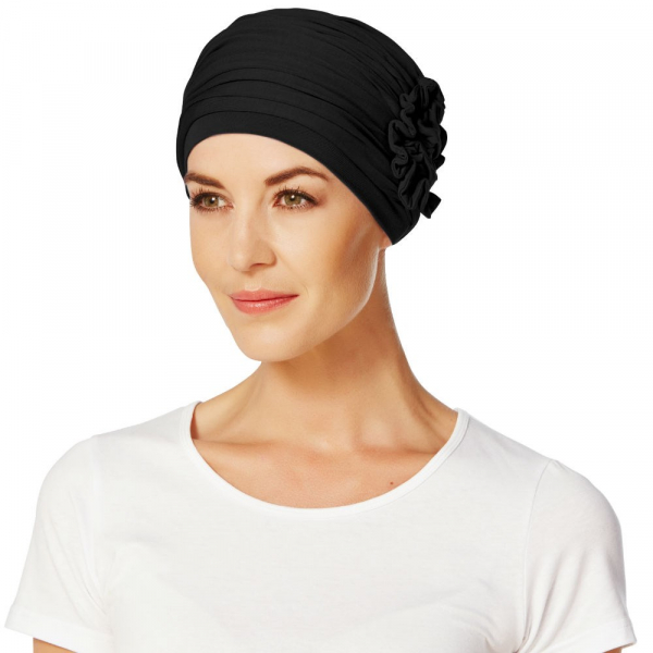 LOTUS turban, Black, Christine Headwear 0