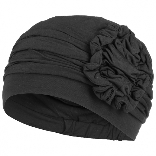 LOTUS turban, Black, Christine Headwear 1