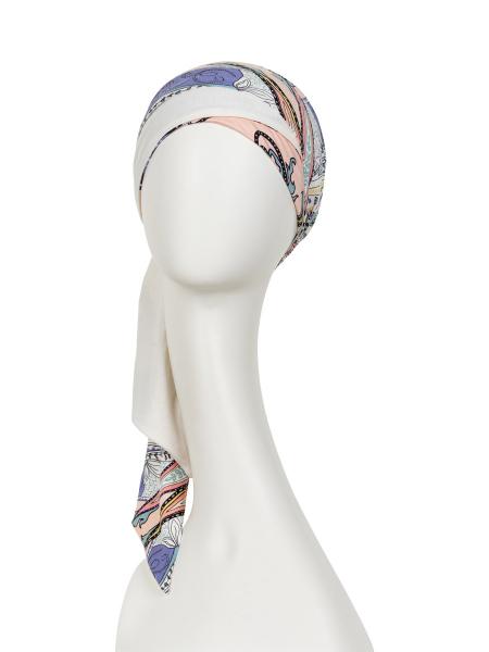 Mantra esarfa cu panglici lungi, Kaleidoscope, Christine Headwear Onconect 1