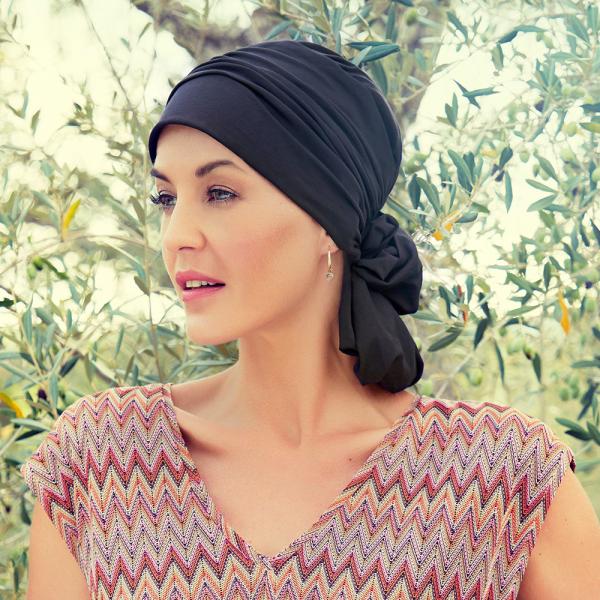Mila Turban, Black Iris, Christine Headwear 2