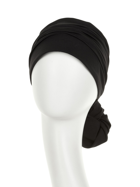 Mila Turban, Black, Christine Headwear 1