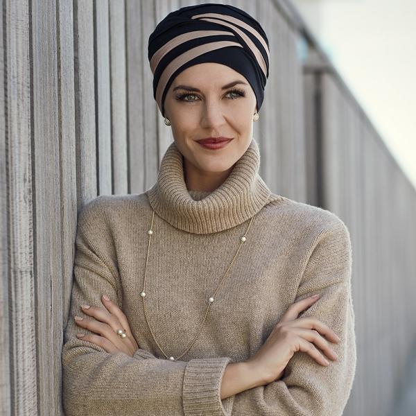 Shanti turban - Black/Brown, Christine Headwear 0