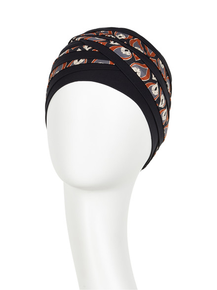 Shanti turban Dark Blue,Peacock, Christine Headwear 1