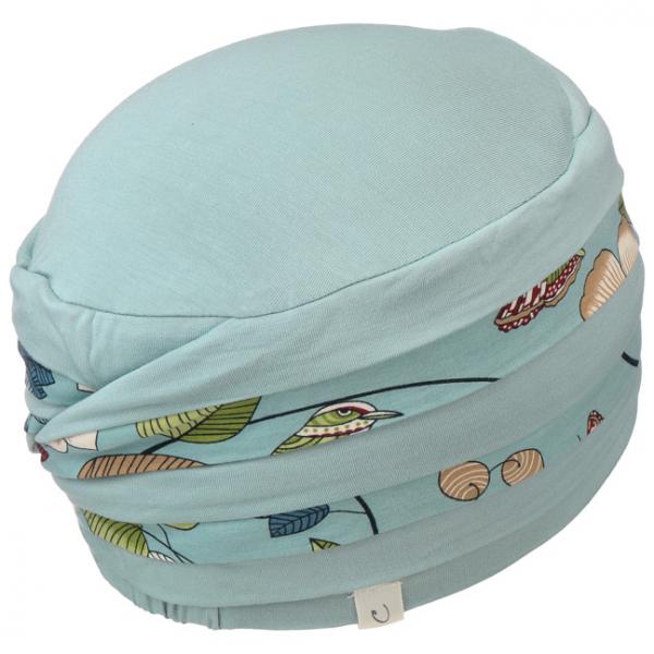 Shanti Slate Blue Flowers - Christine Headwear 4