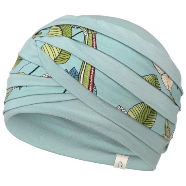 Shanti Slate Blue Flowers - Christine Headwear 1
