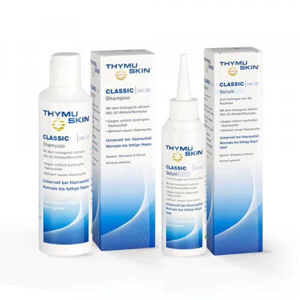 THYMUSKIN CLASSIC Sampon si Ser Tratament caderea parului si regenerare 0