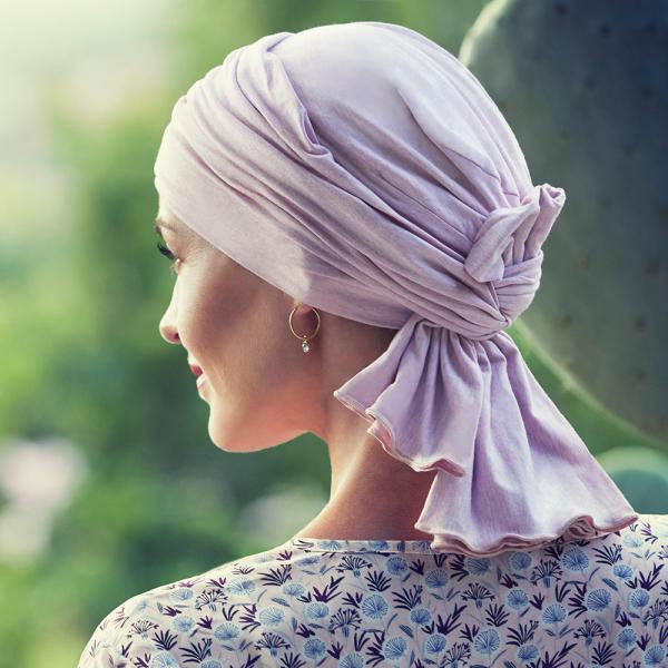 Tula turban, Rose melange, Christine Headwear 1