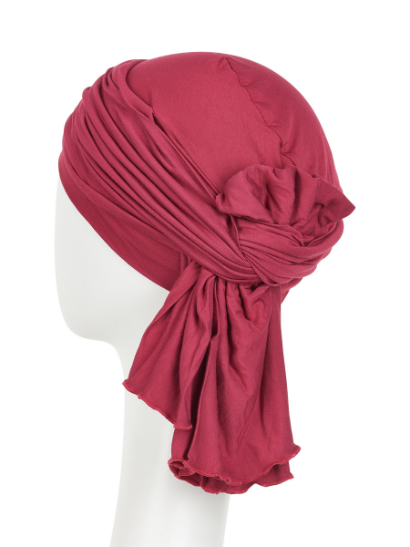 Tula turban, Red Bud, Christine Headwear 2