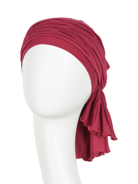 Tula turban, Red Bud, Christine Headwear 1