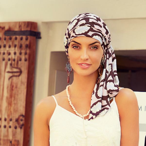 Turban Set Boho Spirit Sapphire, Rose Feathers, Christine Headwear 0
