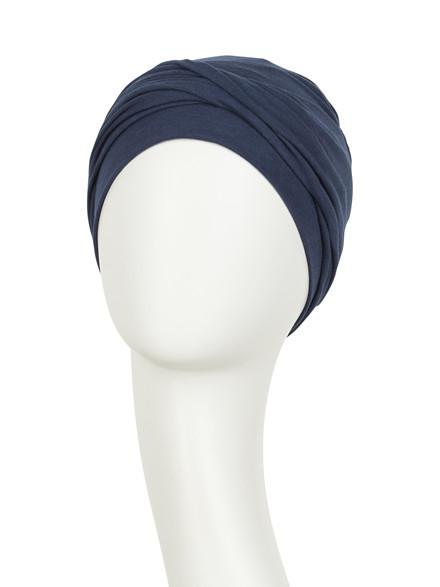 Zoya Turban Black Iris, Viva Headwear 1