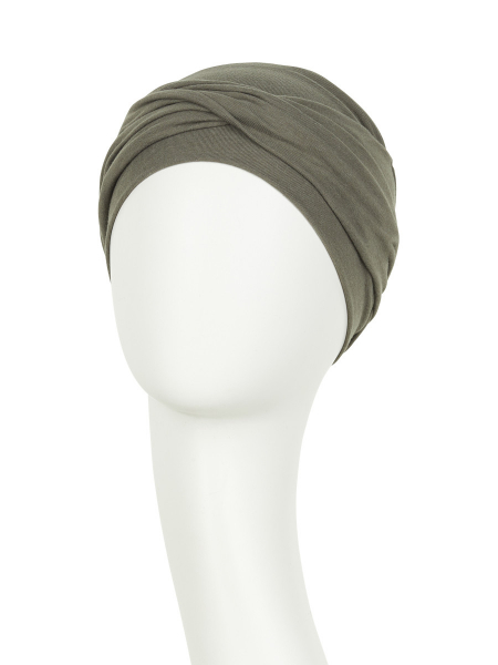 Zoya Turban Olive Green Viva Headwear 1