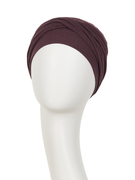 Zoya Turban Raisin, Viva Headwear, Onconect 1