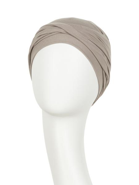 Zoya Turban Vintige Khaki, Viva Headwear 1