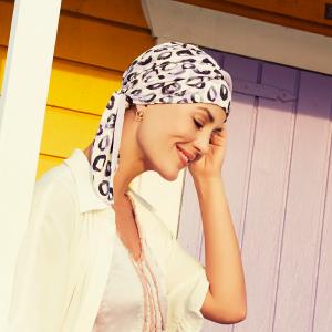 BEATRICE turban cu panglica, Painted Leo0