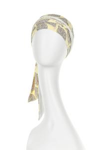 BEATRICE turban cu panglica, Summer Lemons, Vascoza din bambus, Primavara/Vara1