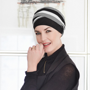 Shanti turban - Black/Grey/Ivory0