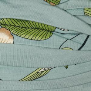 Shanti turban print - Slate Blue Flowers, vascoza din bambus, Primavara/Vara5