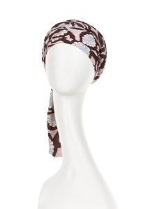Turban Set BOHO SPIRIT SAPPHIRE, Rose Feathers, Poliester/Bumbac/Vascoza, Primavara/Vara2