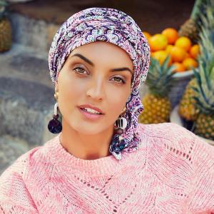 Turban Set BOHO SPIRIT SAPPHIRE, Maroccan vibes, Poliester/Bumbac, Primavara/Vara0