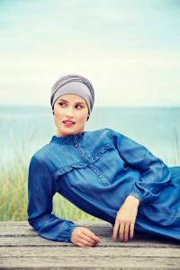 ZOYA • V turban, Lavender Grey0