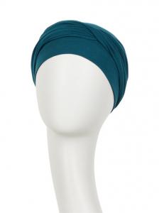 ZOYA • V turban - Legion Blue, Bumbac/Vascoza, Primavara/Vara2