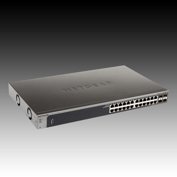 Switch NETGEAR ProSafe GSM7224-200 (24 x Gigabit Ethernet/Fast Ethernet/Ethernet, 4 SFP Slots, ARP Support, DHCP Client Built-in, DHCP Client Built-in, DHCP Server Built-in, Jumbo Frames Support, Radi 1