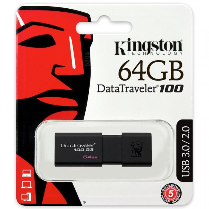 Kingston 64GB USB 3.0 DataTraveler 100 G3 1
