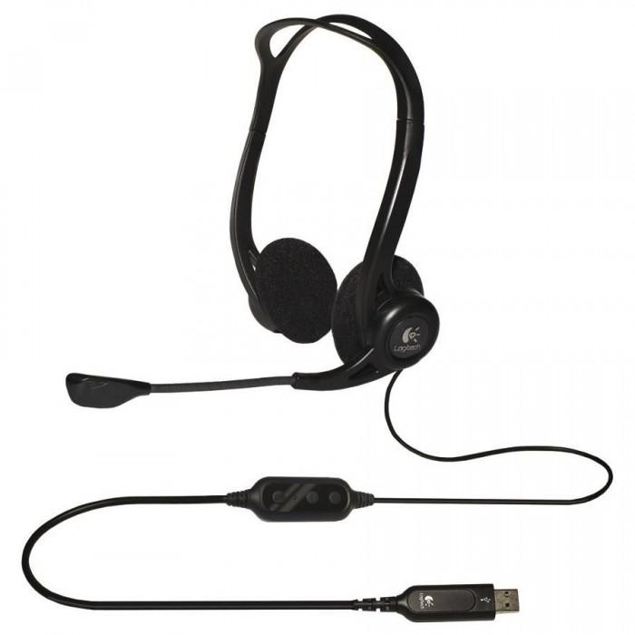 "CASCA Logitech  PC 960 Stereo Headset USB   ""981-000100"" 0"