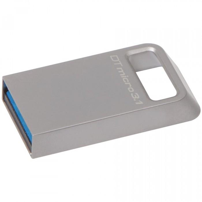 Kingston 32GB DTMicro USB 3.1/3.0 Type-A metal ultra-compact flash drive, EAN: 740617242829 0