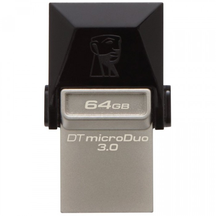 "USB3.0  64GB KINGSTON DATA TRAVELER MicroDuo OTG ""DTDUO3/64GB"" 0"