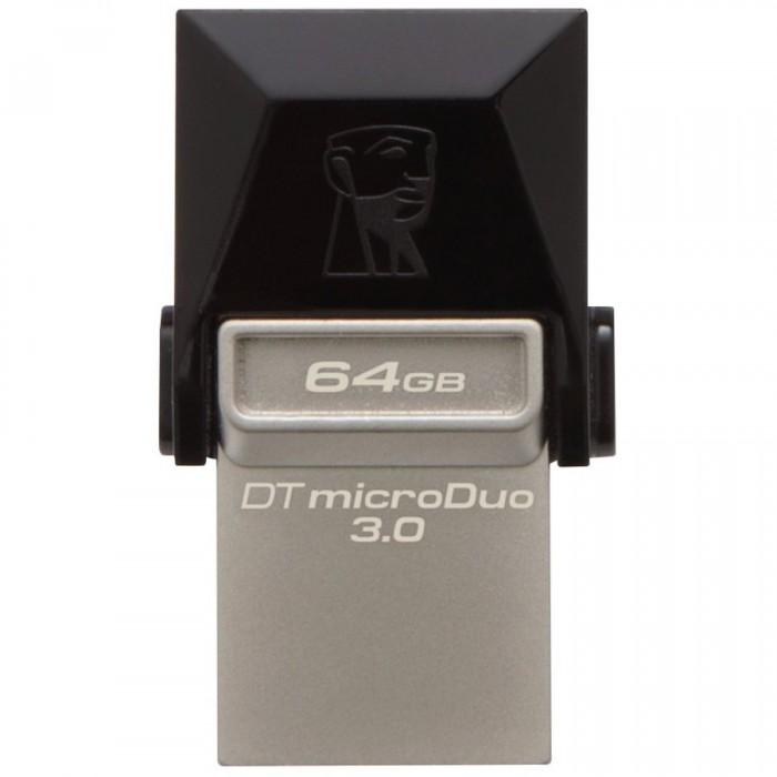"USB3.0  64GB KINGSTON DATA TRAVELER MicroDuo OTG ""DTDUO3/64GB"" 0"