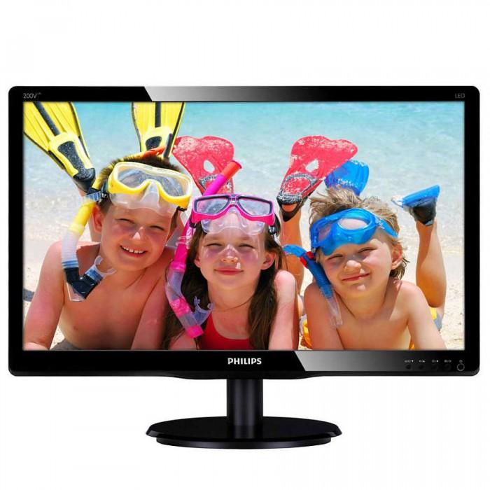 "Monitor 19.5"" PHILIPS 200V4LAB2, HD+ 1600*900, TN, WLED, 16:9, 60hz, 5ms, 200 cd/m2, 90/65, 10M:1/600:1, VGA, DVI-D, VESA, Speakers, Kensington lock, Black ""200V4LAB2/00"" 0"