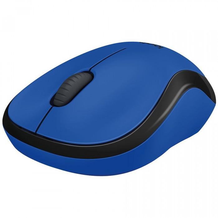 "MOUSE LOGITECH wireless, 1000dpi, 3 butoane, 1 rotita scroll, ""M220 Silent"", blue, ""910-004879"" (include timbru verde 0.1 lei) 1"