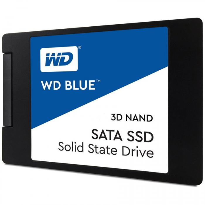"SSD WD, 250GB, Blue, 2.5"", SATA 3.0, 3D NAND, R/W speed: 560/530MBs, 7mm ""WDS250G2B0A"" 0"