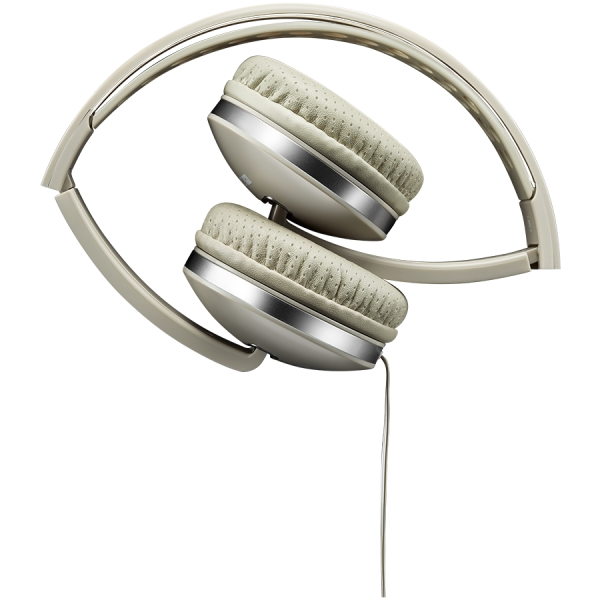 CANYON Stereo headphone with microphone and switch of answer/end phone call, cable 1.2M, Beige 1