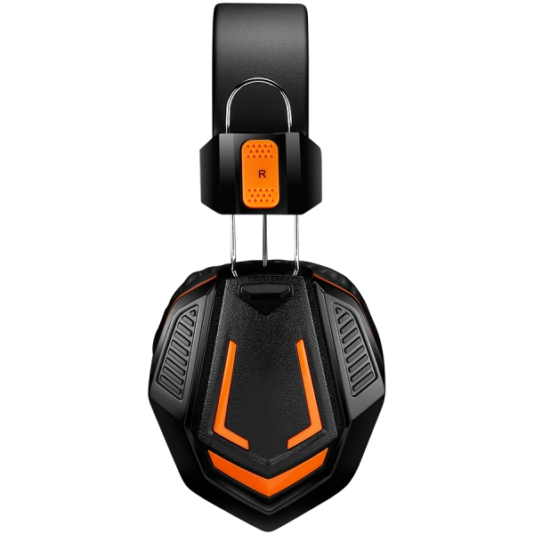 CANYON Gaming headset 3.5mm jack with microphone and volume control, cable 2M, Black 2