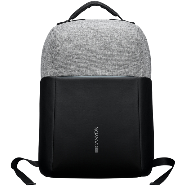"""Backpack for 15.6"""" laptop, black and dark gray (Material: 900D Glued Polyester and 600D Polyester) 0"""
