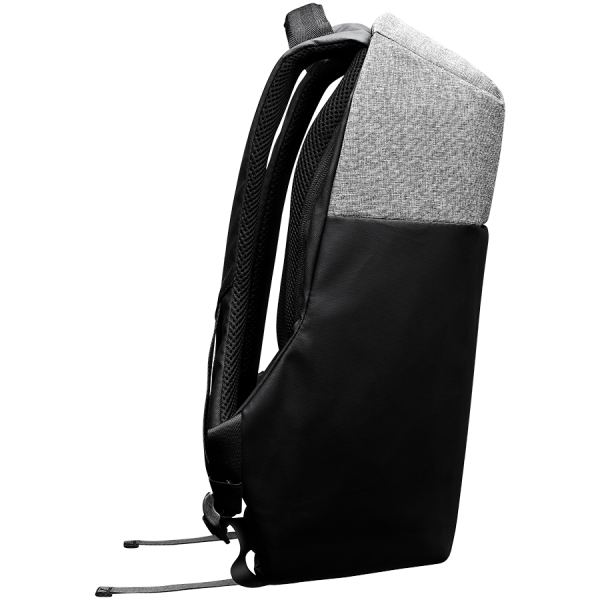 """Backpack for 15.6"""" laptop, black and dark gray (Material: 900D Glued Polyester and 600D Polyester) 3"""