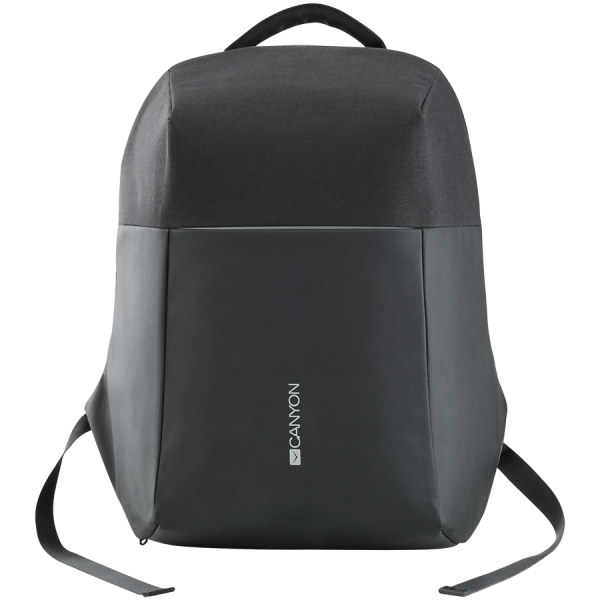 "Backpack for 15.6"" laptop, material 900D glued polyester and 600D polyester, black, USB cable length0.6M, 400x210x480mm, 1kg,capacity 20L 0"