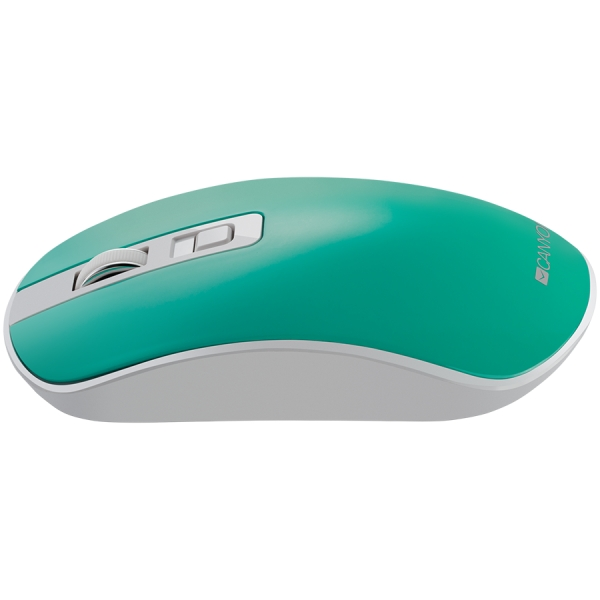 2.4GHz Wireless Rechargeable Mouse with Pixart sensor, 4keys, Silent switch for right/left keys,DPI: 800/1200/1600, Max. usage 50 hours for one time full charged, 300mAh Li-poly battery,, Aquamarine,  3