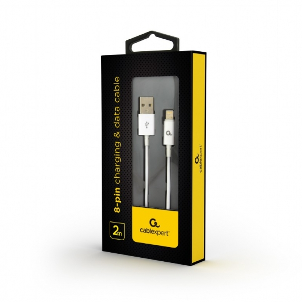 """8-pin charging and data cable, 2 m, white """"CC-USB2P-AMLM-2M-W"""" 1"""