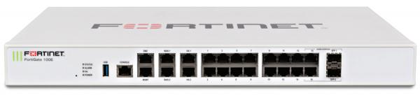 Fortinet firewall Fortigate 100E - Hardware plus 1 Year Hardware plus 24x7 FortiCare and FortiGuard Unified (UTM) Protection 0
