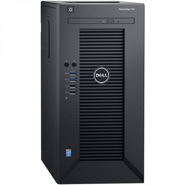 Server DELL PowerEdge T30 Tower, Procesor Intel® Xeon® E3-1225 v5 3.3GHz Skylake, 1x 8GB UDIMM DDR4 2133MHz, 1x 1TB 7.2K SATA HDD 3.5 inch, LFF 3.5 inch, 3Yr NBD 0
